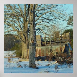 Rural Snow Scene Print