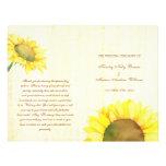 Rural Sunflowers Wedding Ceremony Bi Fold Programs