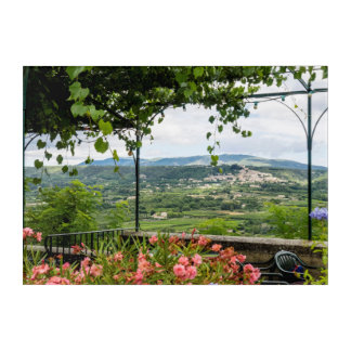 Rural Town Landscape, France Acrylic Print