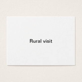 Rural visit business card