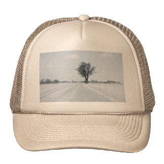 Rural winter road cap