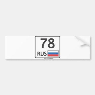 RUS. St.Peresburg. 78 Bumper Sticker