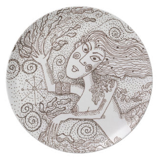 Rusalka Party Plate