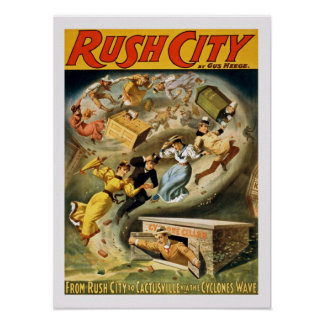 Rush City Vintage Poster