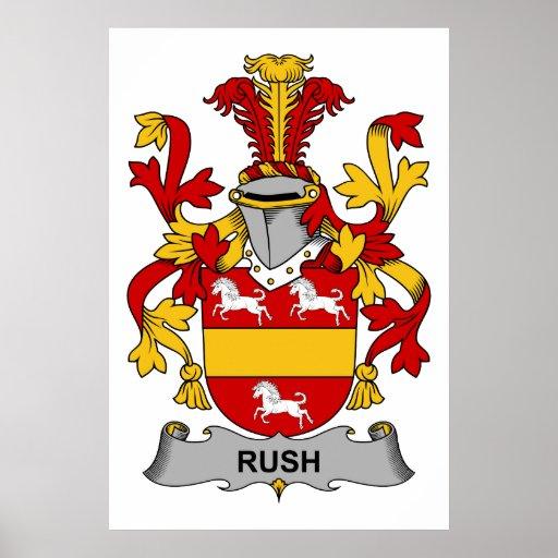 Rush Family Crest Poster