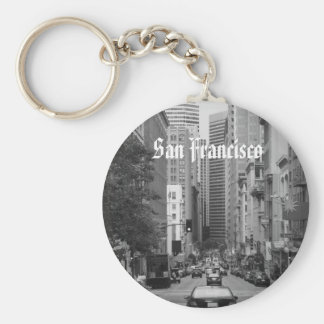 rush hour in San Francisco Basic Round Button Key Ring