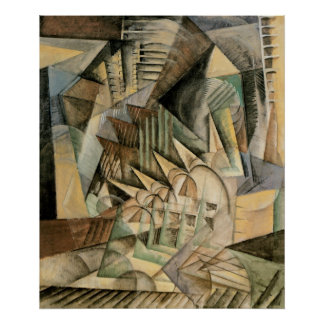 Rush Hour, New York by Max Weber, Vintage Cubism Poster