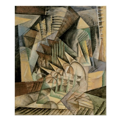 Rush Hour, New York by Max Weber, Vintage Cubism Print