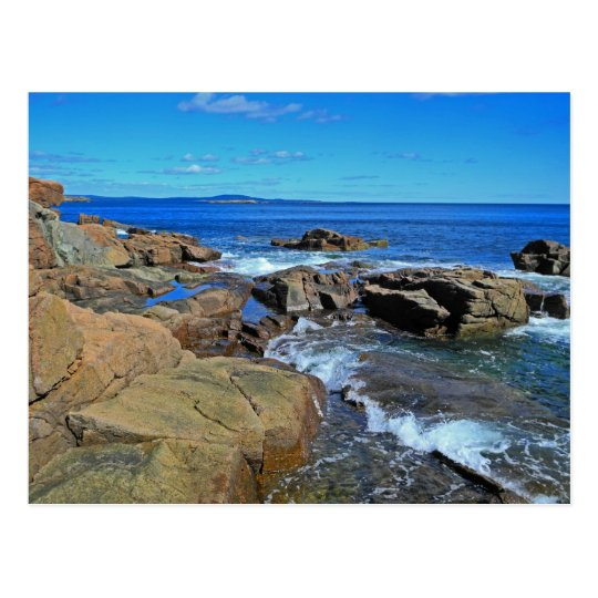 Rush of Tide at Thunder Hole Postcard
