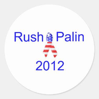 Rush Palin 2012 Round Sticker