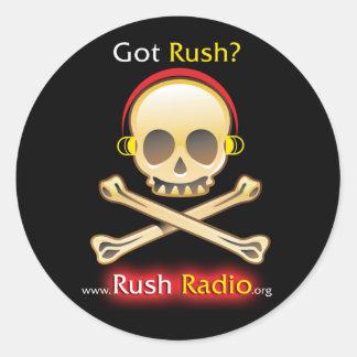 Rush Radio Round Sticker