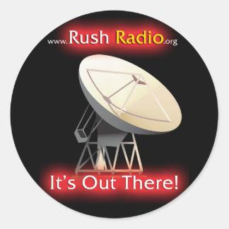 Rush Radio Sticker Round