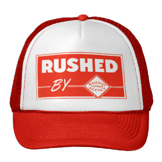 Rushed By Railway Express Trucker Hat