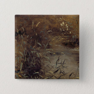 Rushes by a Pool, c.1821 (oil on paper on board) 15 Cm Square Badge