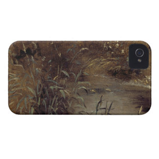 Rushes by a Pool, c.1821 (oil on paper on board) iPhone 4 Case-Mate Case