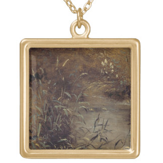 Rushes by a Pool, c.1821 (oil on paper on board) Custom Jewelry