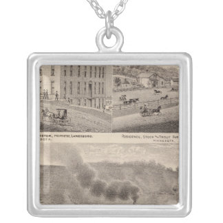 Rushford Wagonand Carriage County, Minnesota Silver Plated Necklace