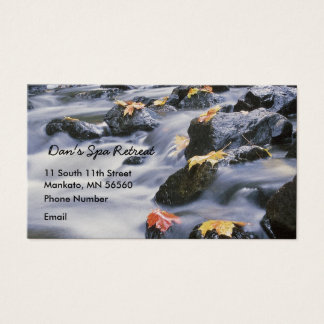 Rushing Rapids with autumn leaves