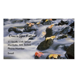 Rushing Rapids with autumn leaves Business Cards