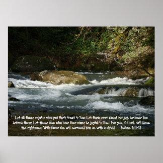 Rushing River Psalms 5:11,12 Print