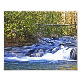 Rushing River Waterfall Photo Print