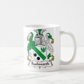 Rushworth Family Crest Basic White Mug