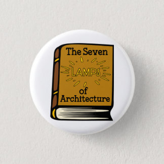 Ruskin The Seven Lamps of Architecture Book Pin
