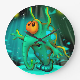 RUSS ALIEN CARTOON LARGE ROUND CLOCK 2