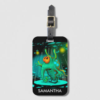 RUSS ALIEN CARTOON Luggage Tag with Business Card