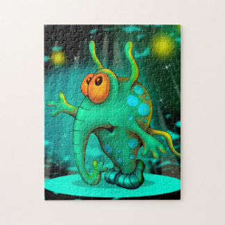 RUSS ALIEN CARTOON PUZZLE 11 X 14