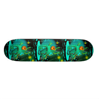 RUSS ALIEN CARTOON Skateboard 7¾""