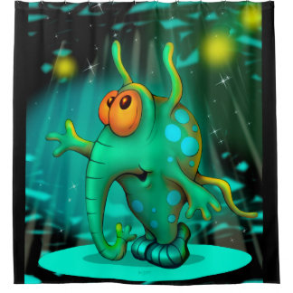 RUSS ALIEN MONSTER Curtain SHOWER CARTOON
