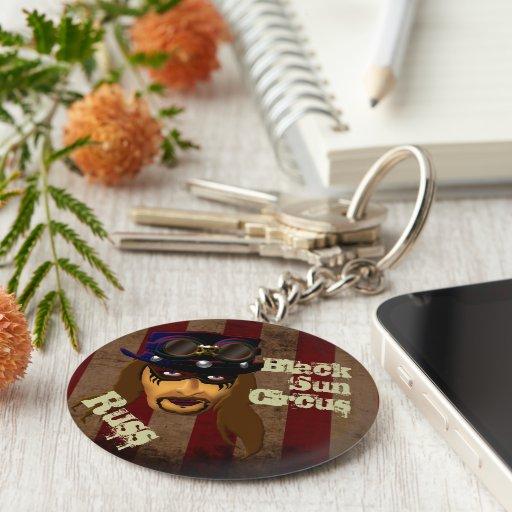 Russ Clown Button Key Chain