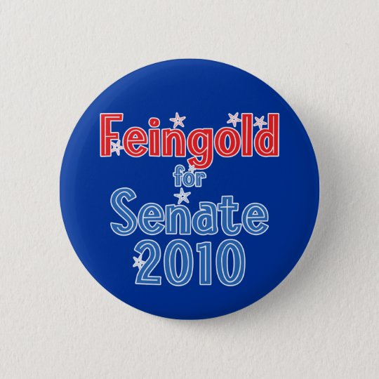 Russ Feingold for Senate 2010 Star Design 6 Cm Round Badge