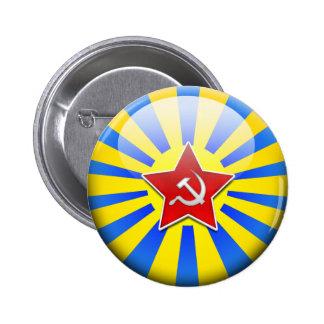 Russain Flag Air Force 6 Cm Round Badge