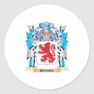 Russel Coat of Arms - Family Crest Classic Round Sticker