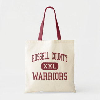 Russell County - Warriors - High - Seale Alabama Budget Tote Bag