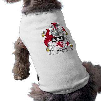 Russell Family Crest Sleeveless Dog Shirt