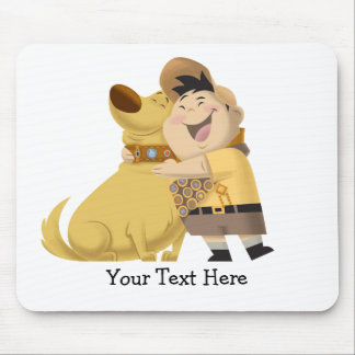 Russell hugging Dug - Pixar UP! Mouse Pad