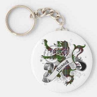 Russell Tartan Lion Basic Round Button Key Ring