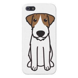Russell Terrier Dog Cartoon iPhone 5 Cases