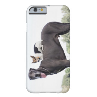 Russell terrier on great dane's back barely there iPhone 6 case