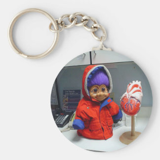 Russell's Heart Exam Basic Round Button Key Ring