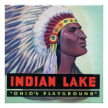 Russells Point Ohio Indian Lake Large Letter Poster