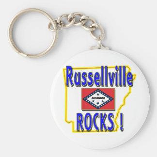 Russellville Rocks ! (blue) Key Ring