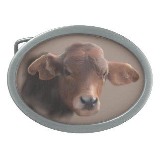 Russet Brown Cow Belt Buckle