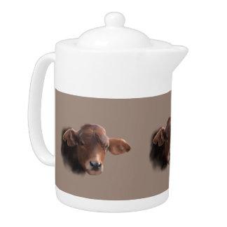 Russet Brown Cow Portrait