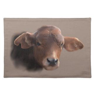 Russet Brown Cow Portrait Placemat