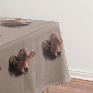 Russet Brown Cow Portrait Tablecloth
