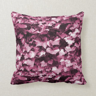 Russet & Wine Ivy Leaves Throw Cushion